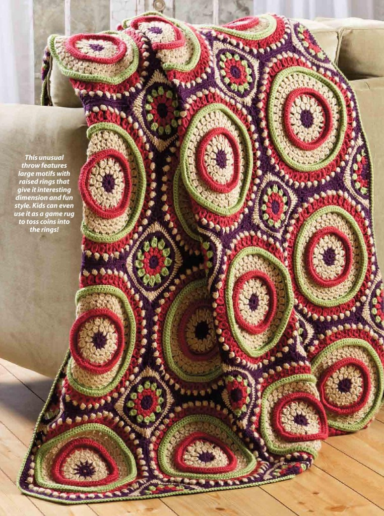 Large Circular Motif Afghan Crochet Pattern ⋆ Crochet Kingdom