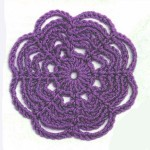 Web Circle Crochet Motif Pattern