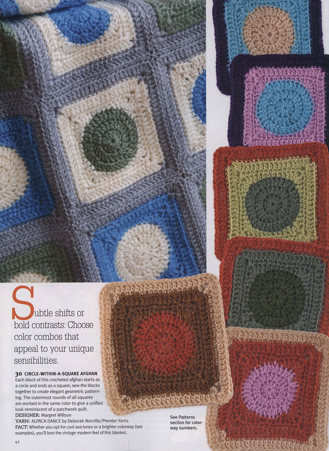 Crochet Afghan Pattern - Circle in A Square ⋆ Crochet Kingdom
