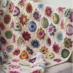 Circle Square Colorful Motif Blanket