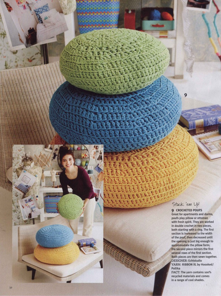 Crochet Poufs Crochet Kingdom 3 Free Crochet Patterns