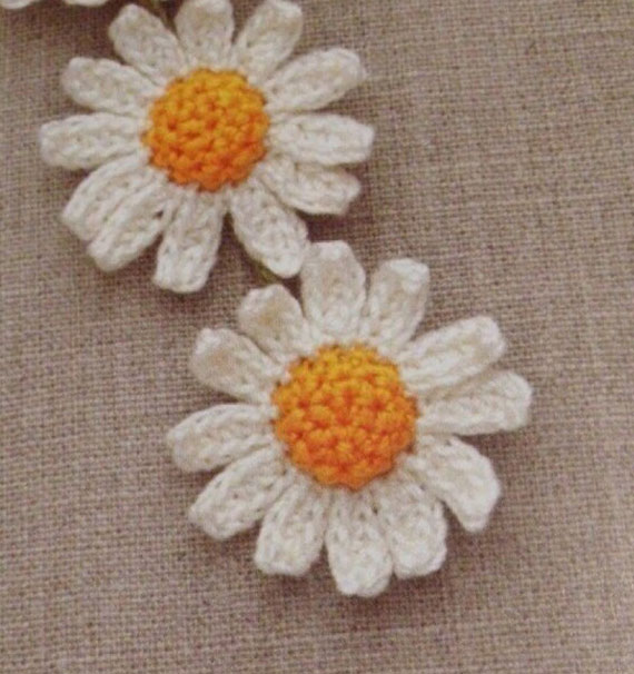 Crochet Small Daisy Flower Pattern Pakbit For