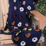 Garden Themes Squares - Crochet Blanket
