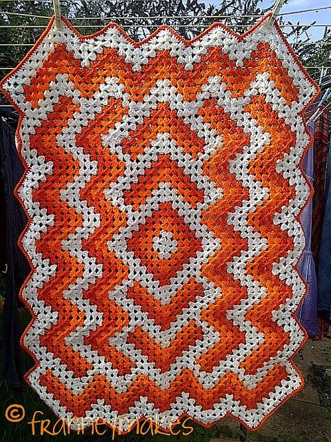 Drop In The Pond Lap Blanket ⋆ Crochet Kingdom