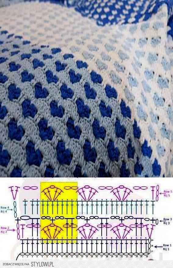 Heart Crochet Stitch Bedspread ⋆ Crochet Kingdom