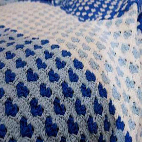 Kingdom Hearts Free Crochet Patterns : Heart Crochet Stitch Bedspread ? Crochet Kingdom