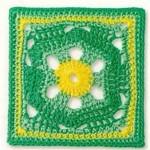 Hexagon in a Square Crochet