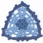 Lace Crochet Triangle Motif