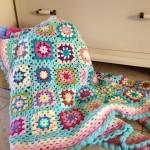 pastel shades crochet blanket