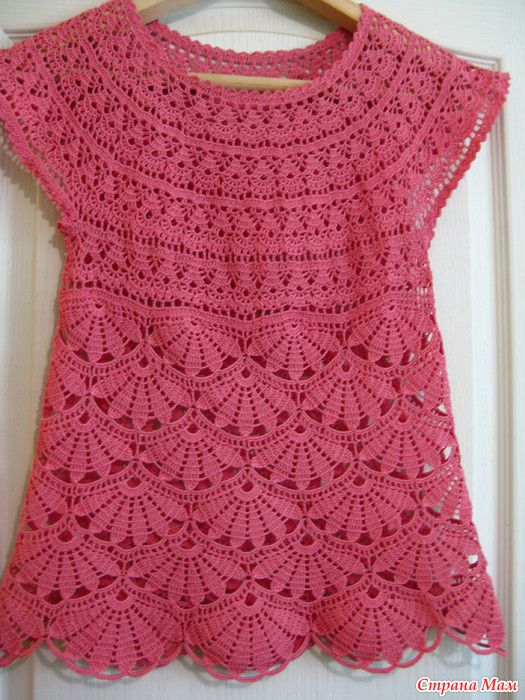 Crochet Tunic In Pink Pattern Crochet Kingdom