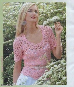 Вязаная ажурная кофточка-2 - Вязание для женщин Теплая цветочная кофта связ