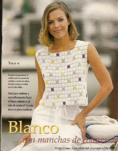 squares tank crochet pattern