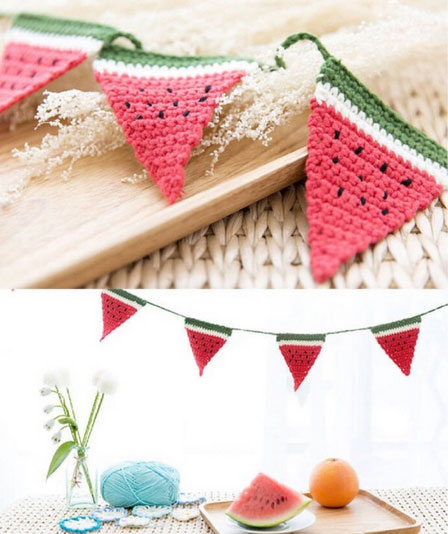 Watermelon Bunting - Crochet