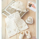 Baby Crochet Bonnet, Vest and Shoes Set Pattern