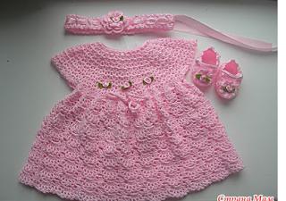 Baby's Shelled Crochet Dress Pattern 1