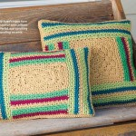 Crochet Log Cabin Pillows