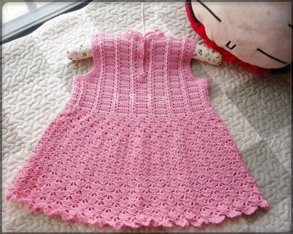 Cute baby dress crochet pattern 1