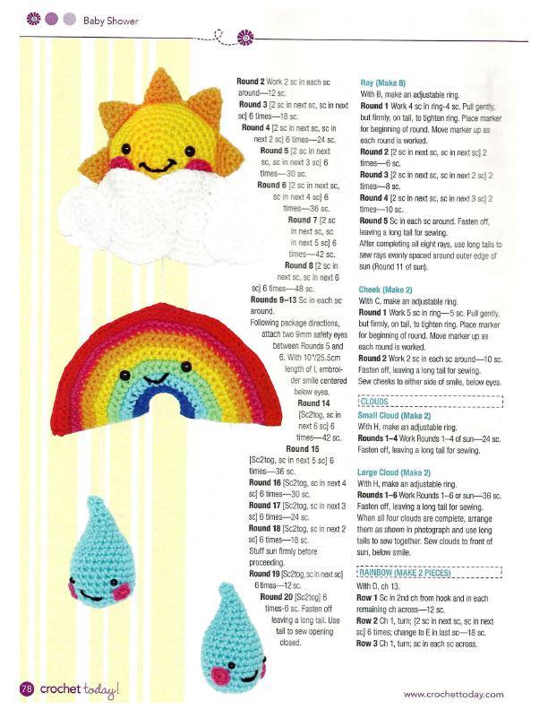 Happy Baby Mobile Crochet Pattern 2