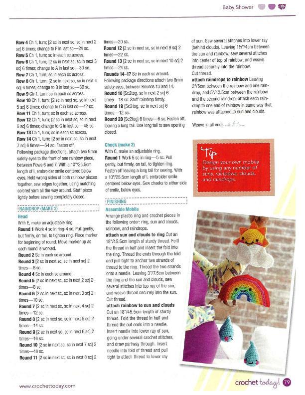 Happy Baby Mobile Crochet Pattern 3