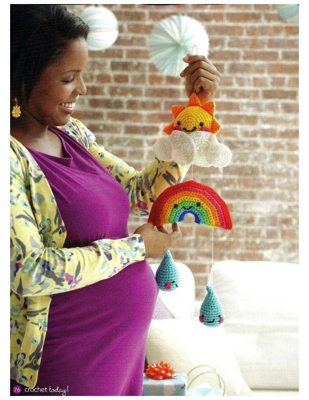 Happy Baby Mobile Crochet Pattern
