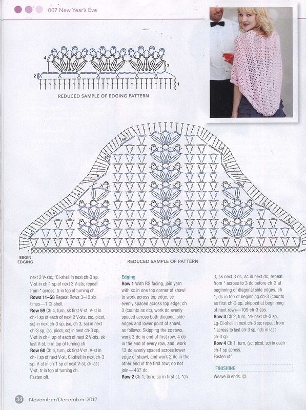 Head Turning Shawl Crochet Pattern 2
