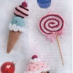 Ice Cream and Lolliposo crochet ornaments