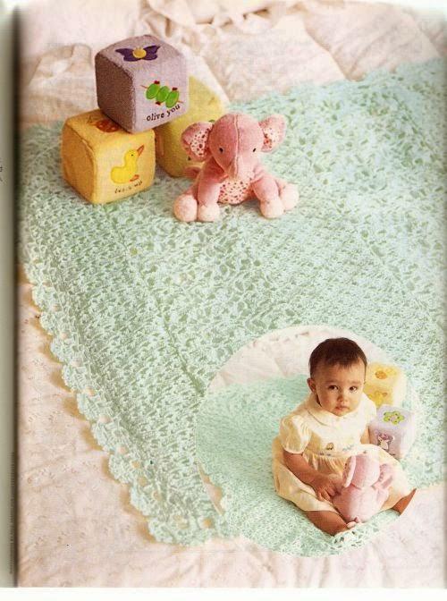 Lacy Blankie, Manta a Crochet