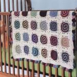 Modern Swirls Crochet Blanket