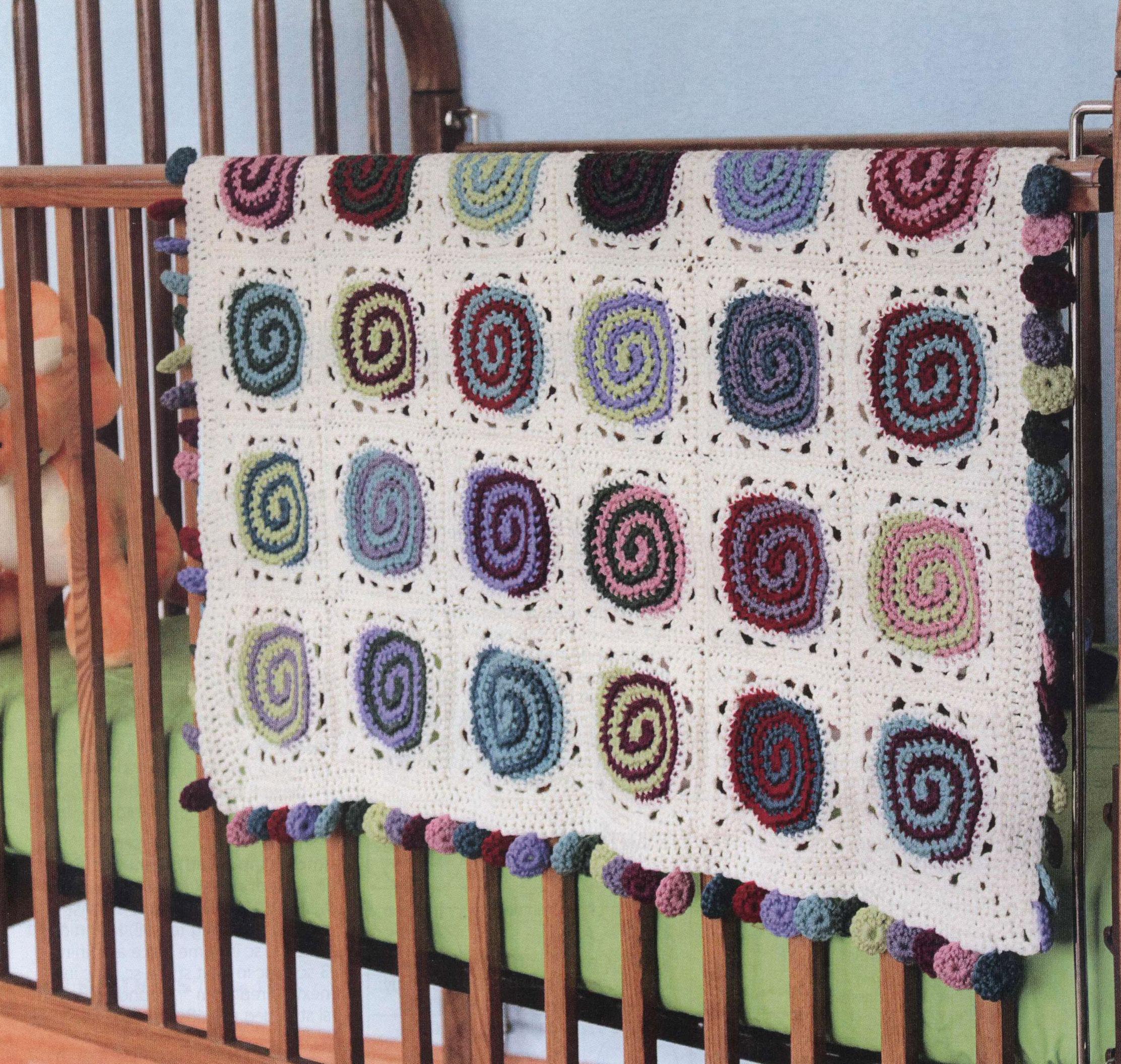 Modern Swirls Crochet Blanket ⋆ Crochet Kingdom