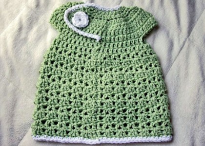 New Baby Crochet Spring Dress