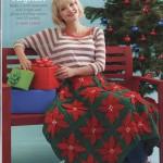 Poinsettia Afghan Christmas Blanket Crochet Pattern