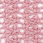 Puff triangles crochet stitch
