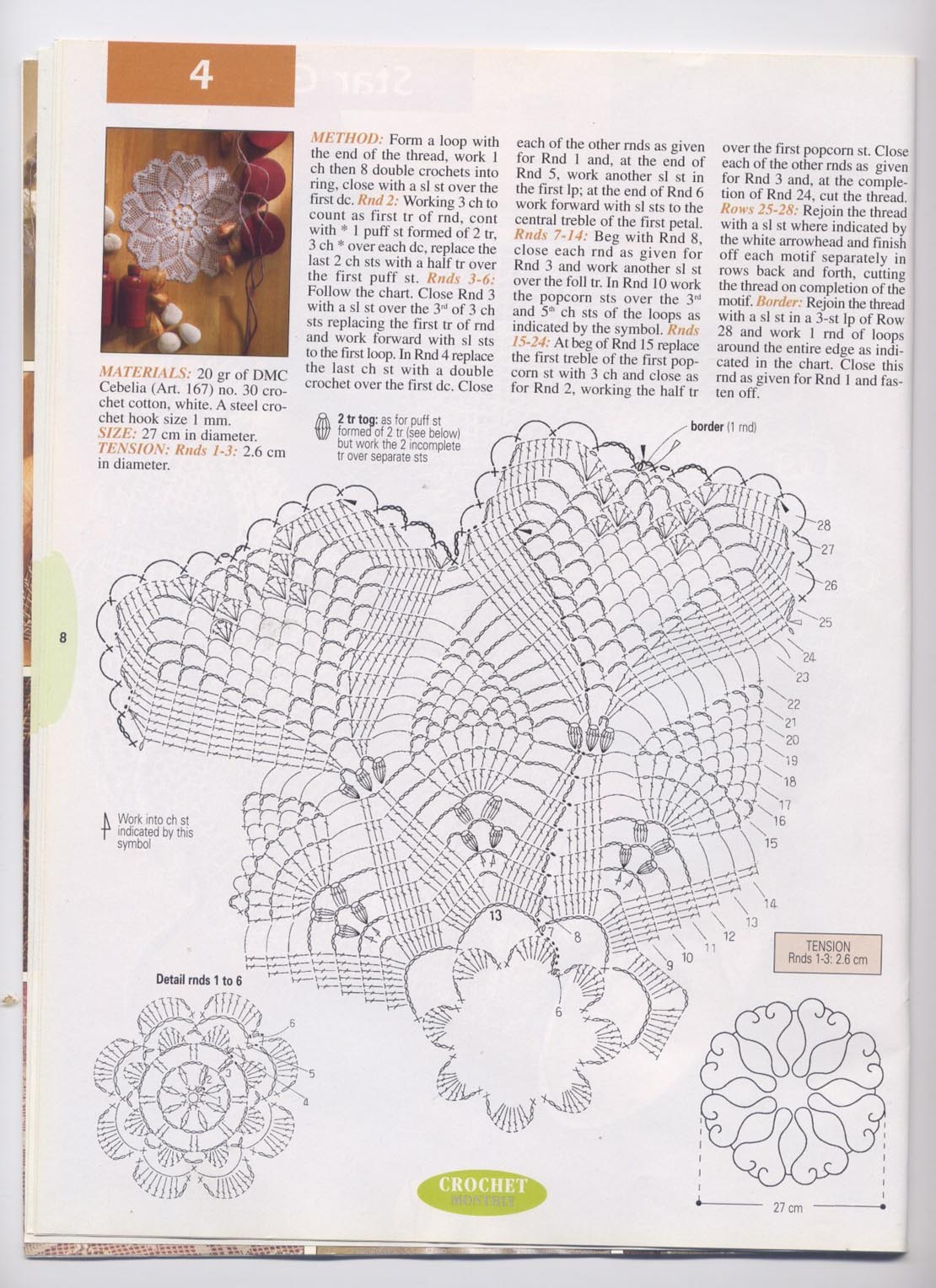 Round Hearts Crochet Doily Pattern Kingdom Heart Shape Diagram 1