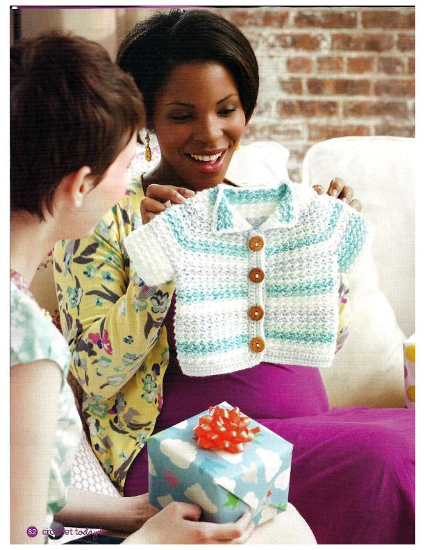 Spring Baby Jacket Cardi Crochet Cardigan 3
