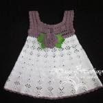 Two toned baby dress crochet pattern