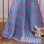 Blue and Purple Baby Blanket Crochet Pattern