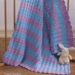 Blue and Purple Baby Blanket Crochet Pattern