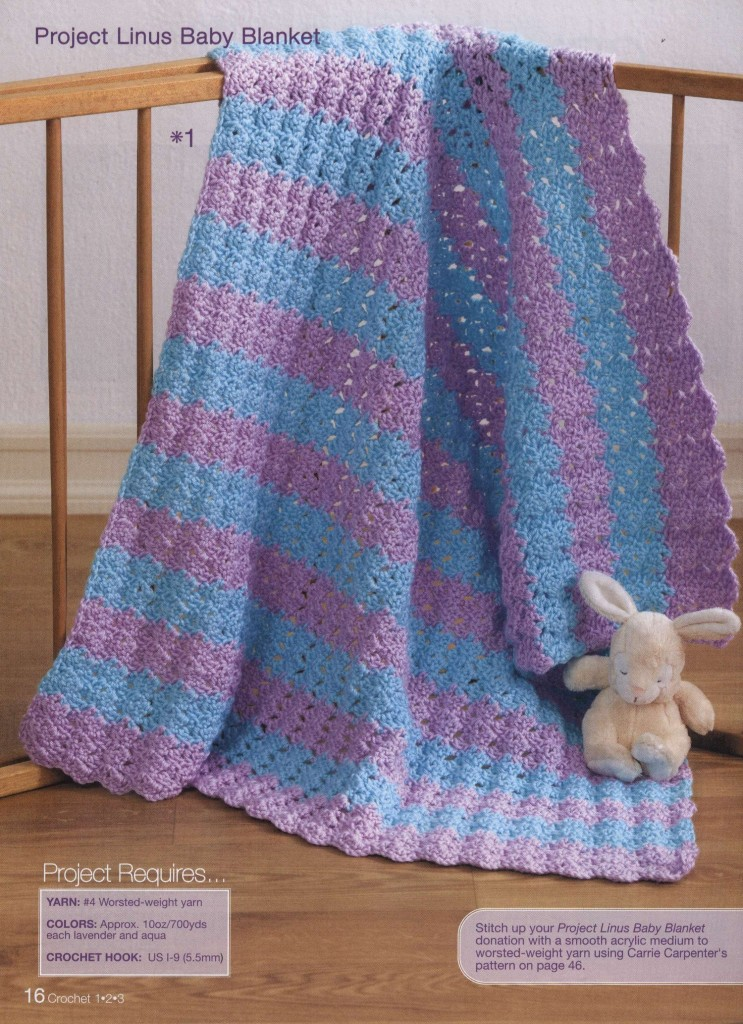 baby blanket in blue and purple