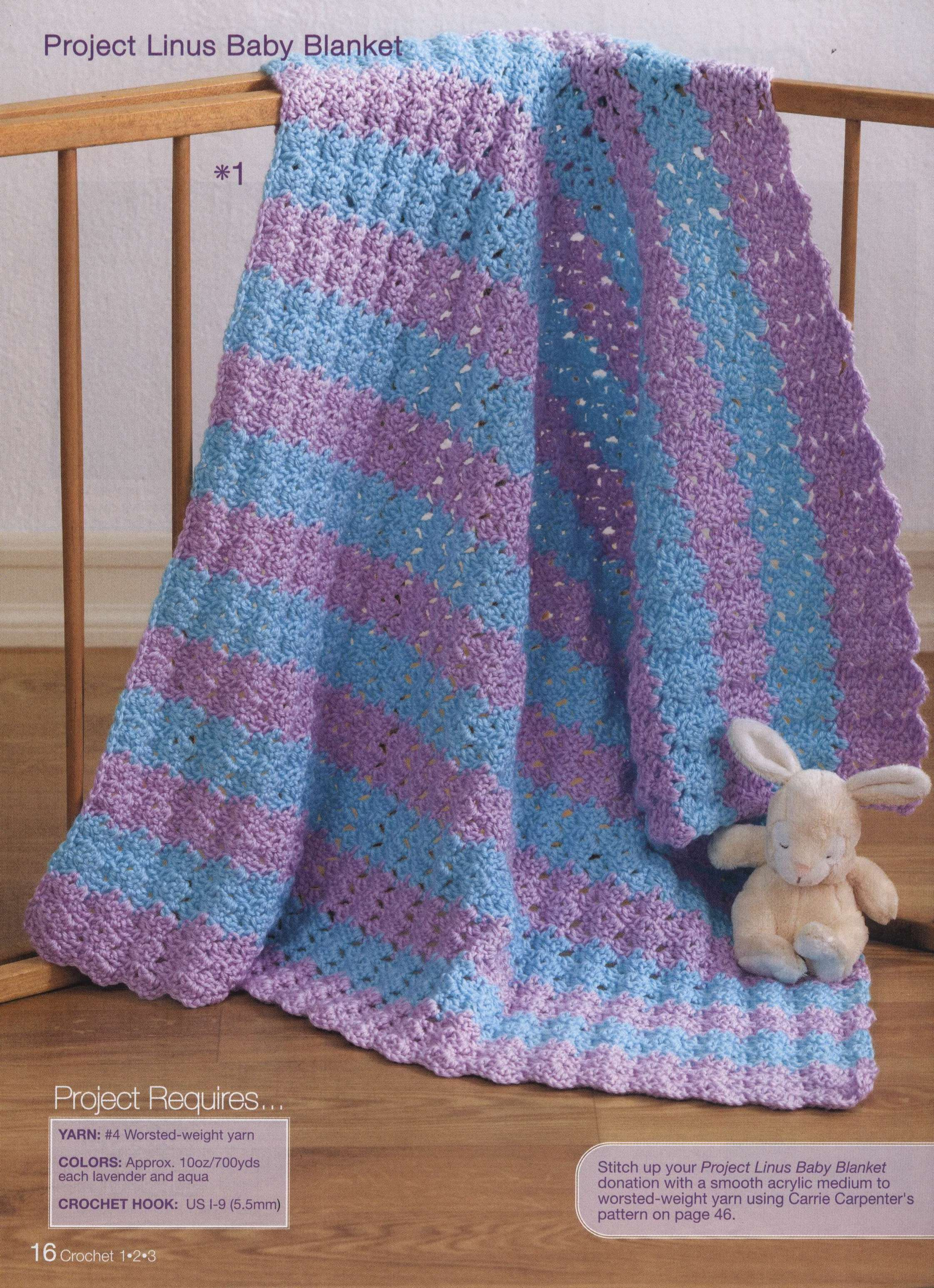 Blue and Purple Baby Blanket Crochet Pattern ⋆ Crochet Kingdom