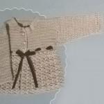 Baby crochet matinee cardigan pattern