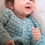 Cosy crochet baby cardigan pattern
