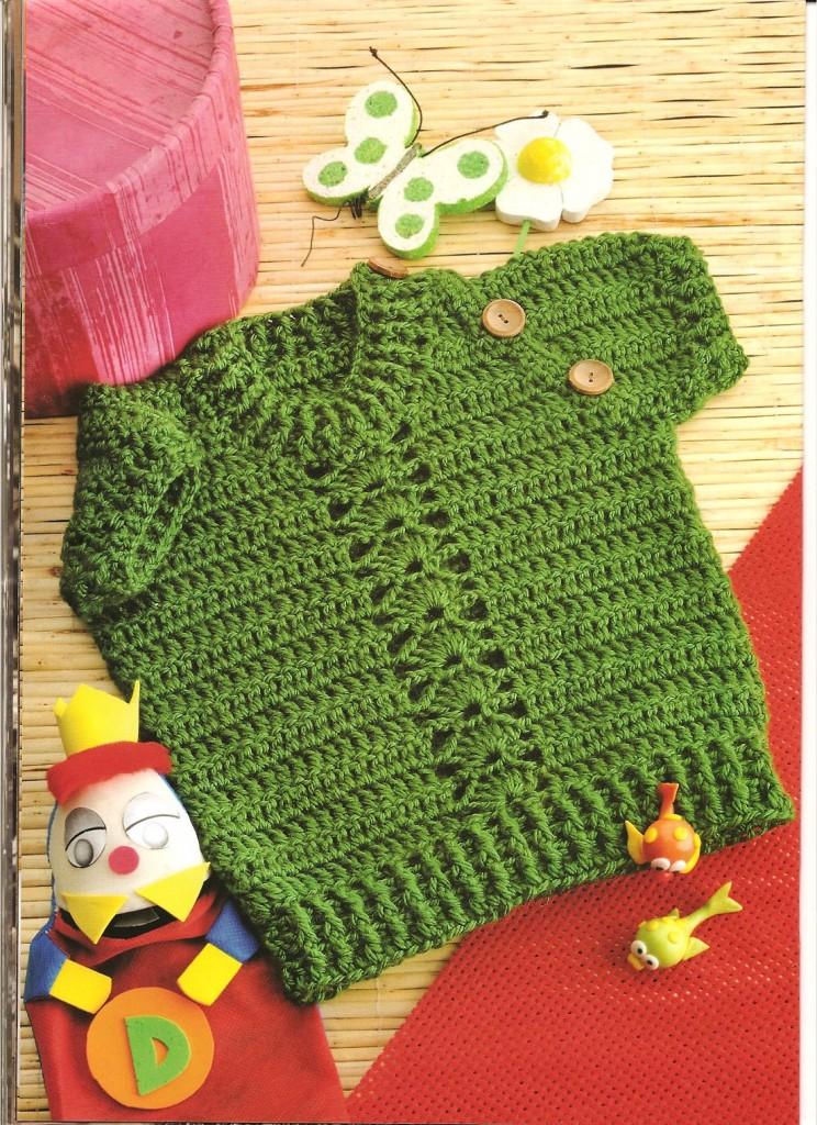 Camisa Verde Ganchillo Patron
