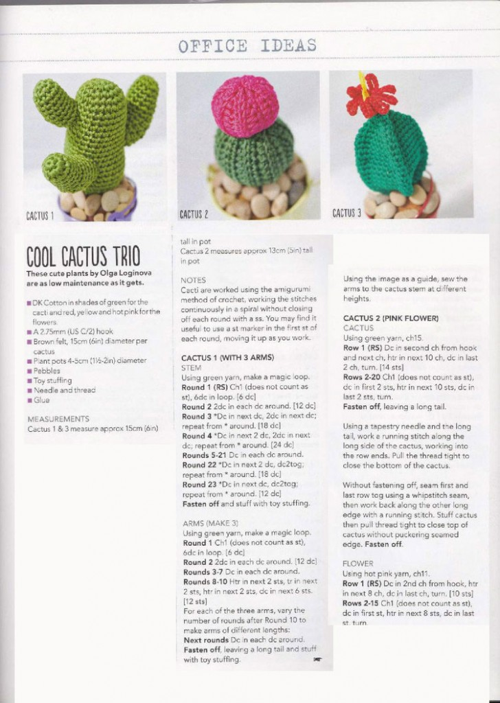 Crochet Cactus Pattern ⋆ Crochet Kingdom