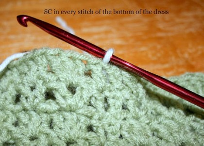 crochet dress tut 5