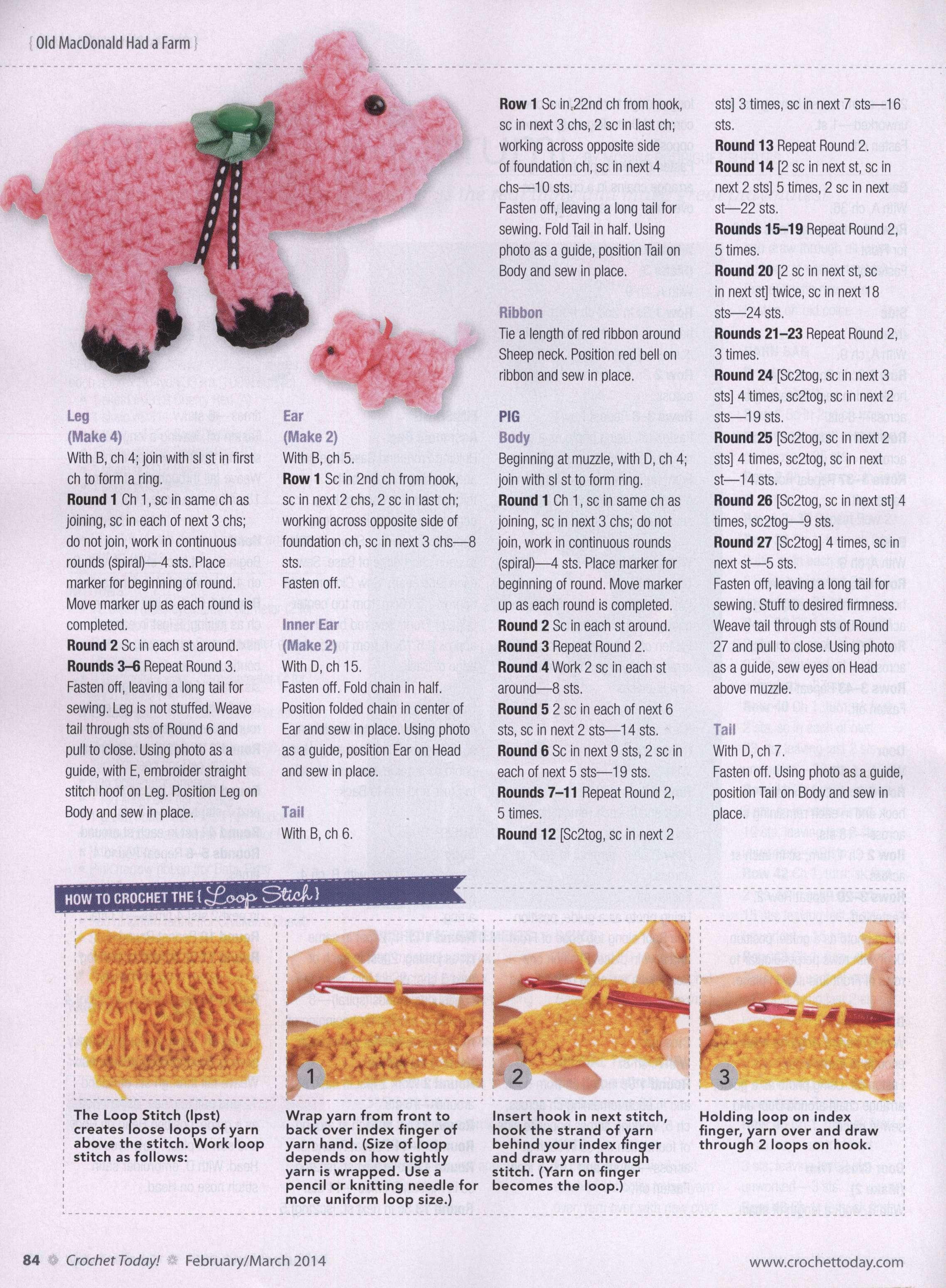 Crochet farm animals amigurumi ⋆ Crochet Kingdom