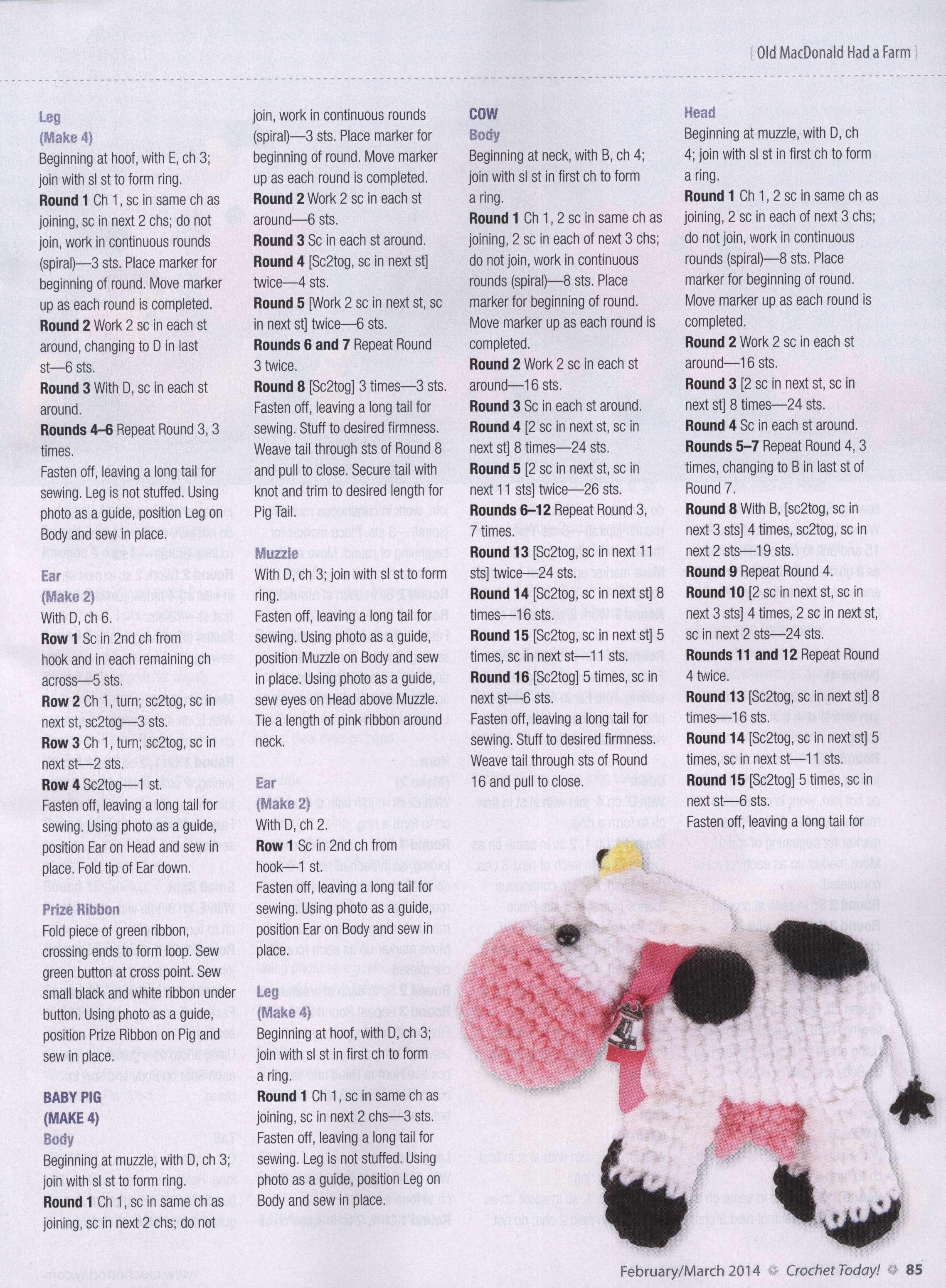 Peppa Pig - free crochet pattern | Wzory amigurumi, Szydełko, Wzory | 3099x2276