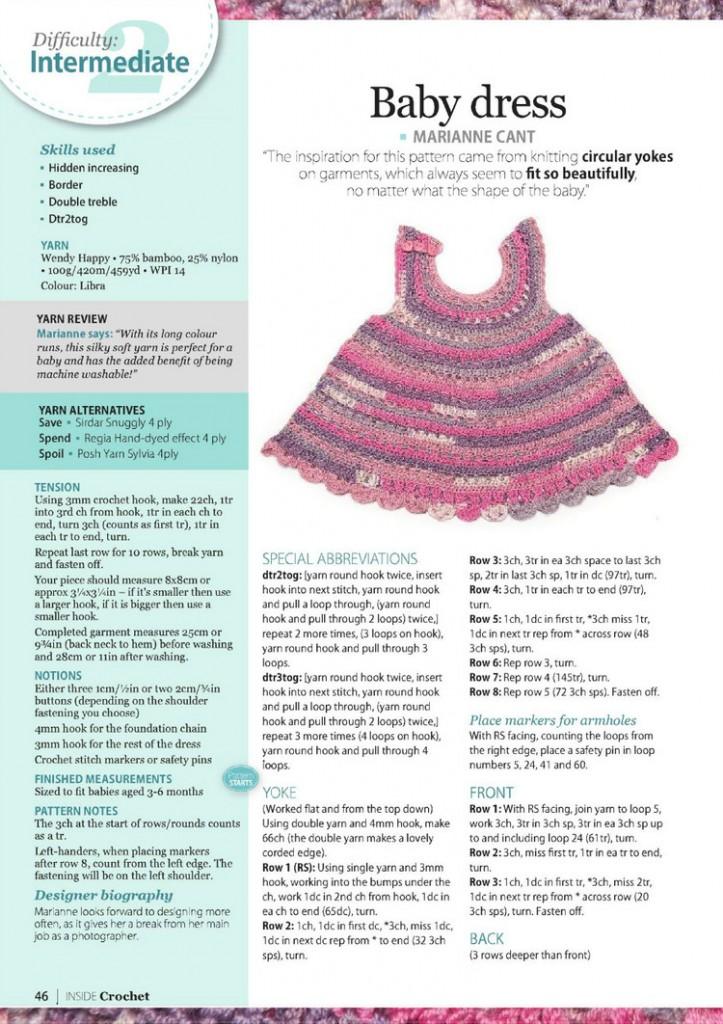 cute baby dress crochet pattern