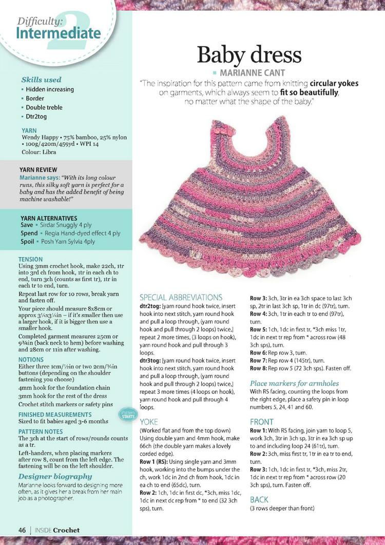 Cute baby Dress Crochet Pattern ⋆ Crochet Kingdom