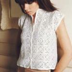 Delicate lace square crochet vest pattern