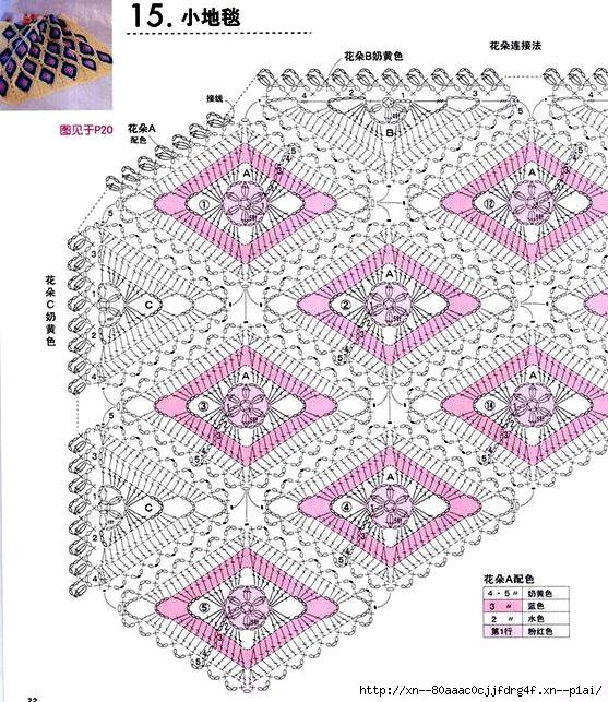 diamond shaped crochet blanket pattern 3